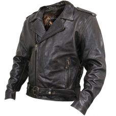 Xelement XS-589 Mens Armored Distressed Leather Classic Biker Jacket